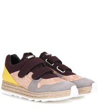 Stella Mccartney Macy Embroidered Sneakers Multicoloured