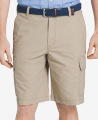 Izod Men's Lightweight Poplin Cargo Shorts High Rise