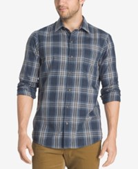 G.H. Bass And Co. Men's Corded Poplin Shirt Blue Nights Heather