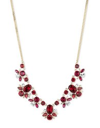 Givenchy Crystal Floral Necklace Red