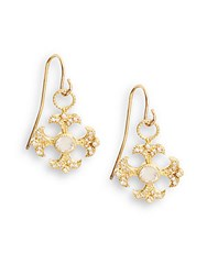 Jude Frances 18K Yellow Gold Floral Drop Earrings No Color