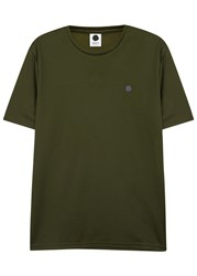 Nn.07 Sport Army Green Pique Cotton Blend T Shirt