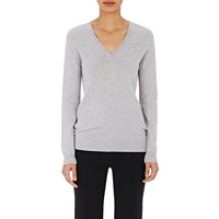 Barneys New York Melange V Neck Sweater Gray