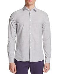 The Men's Store At Bloomingdale's Microstripe Classic Fit Button Down Shirt Grey Stripe