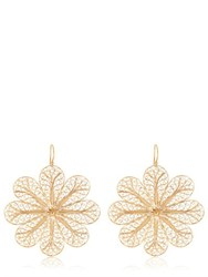 Arabel Lebrusan Large Rosette Filigree Earrings