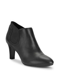 Bandolino Wilbur Leather Ankle Booties Black