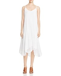 Three Dots Payton Crinkled Handkerchief Dress White