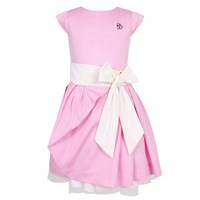 Jessie And James London Side Bow Dress Candy Pink Pink Purple