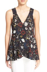 Women's A.L.C. 'Purcell' Floral Print Sleeveless Silk Top