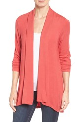 Bobeau Women's Long Cardigan Red Pepper