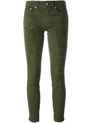 Dondup Distressed Trousers Green