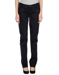 Camouflage Ar And J. Trousers Casual Trousers Women Dark Blue