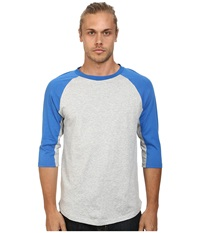 Alternative Apparel Cotton Modal Baseball Tee Bright Blue Men's Long Sleeve Pullover
