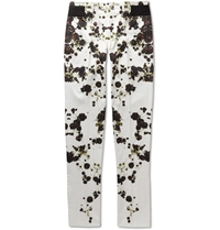 Givenchy Printed Slim Fit Cotton Trousers White