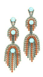 Elizabeth Cole Billie Earrings Tangerine