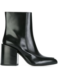 Marni Pointed Toe Ankle Boots Black