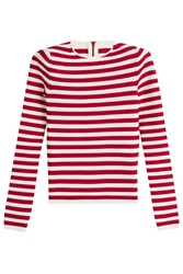 Sonia Rykiel Striped Pullover With Zip Back Stripes