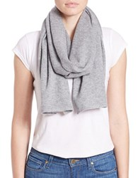 Lord And Taylor Cashmere Scarf Grey