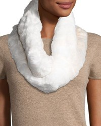 Badgley Mischka Twisted Faux Fur Cowl Collar Ivory