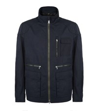 Bogner Military Coated Cotton Blend Jacket Male Navy