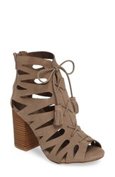Mia Women's Cara Lace Up Gladiator Bootie Grey Suede