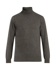 Raey Roll Neck Cashmere Sweater Charcoal