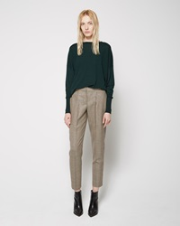 Acne Studios Mia Cropped Trouser Cream And Black