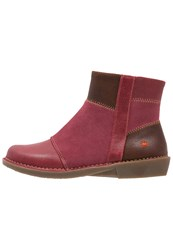 Art Bergen Ankle Boots Wax Rioja Dark Red