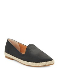 Seychelles Browse Fabric Point Toe Flats Black