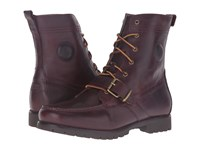 Polo Ralph Lauren Ranger Oxblood Smooth Oil Leather Men's Lace Up Boots Brown