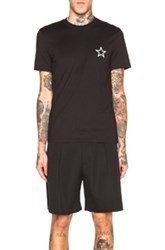 Givenchy Star Embroidery Pocket Tee In Black