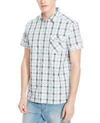 Kenneth Cole Reaction Men's Gregory Plaid Short Sleeve Shirt