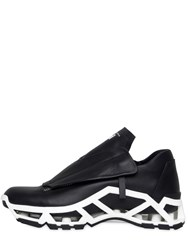 Cinzia Araia Cutout Smooth Leather Sneakers
