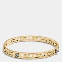Coach Daisy Rivet Pierced Kissing C Bangle Gold
