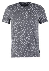 Kiomi Print Tshirt Grey Melange Mottled Dark Grey