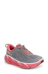 Women's Hoka One One 'Clifton 2' Running Shoe Grey Neon Pink