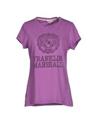 Franklin And Marshall T Shirts Purple