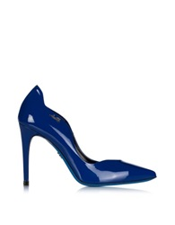 Loriblu Blue Patent Leather Pointed Pump