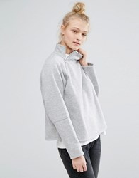 Monki Zip Detail Sweater Grey