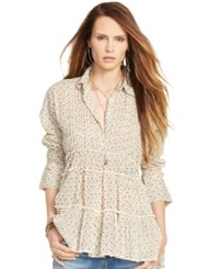 Denim And Supply Ralph Lauren Floral Gauze Tiered Tunic