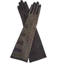 Rick Owens Leather Sequin Gloves D Shdw