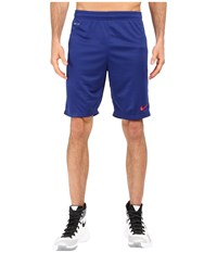 Nike Academy Longer Knit Short 2 Deep Royal Blue Varsity Maize University Red Men's Shorts