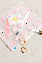 Urban Outfitters Uo Flamingo Makeup Bag Assorted
