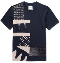 Wooyoungmi Printed Cotton Jersey T Shirt Blue