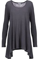 Splendid Asymmetric Supima Cotton Tunic Dark Gray
