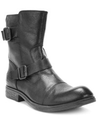 Kenneth Cole Reaction Work Week Double Buckle Boots Men's Shoes Black