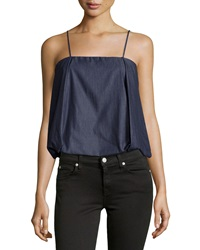 F.T.B By Fade To Blue Pleated Bubble Camisole Dark Rinse