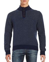 Brooks Brothers Knit Birdseye Sweater Navy