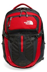The North Face Men's 'Recon' Backpack Red Tnf Red Asphalt Grey