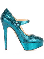 Charlotte Olympia 'Page' Mary Jane Pumps Blue